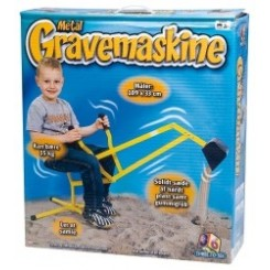 METAL GRAVEMASKINE 109 X 33 CM 83102