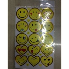 30 STORE SMILEY STICKERS