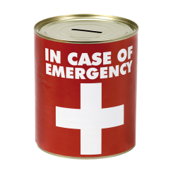 SPAREBØSSE IN CASE OF EMERGENCY