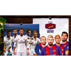IDOLKALENDER FC BARCELONA 2018