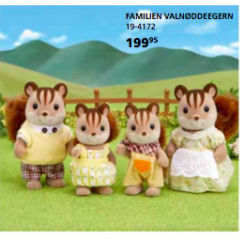 WALNUT SQUIRREL FAMILIE SYLVANIAN