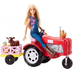 BARBIE MED TRAKTOR