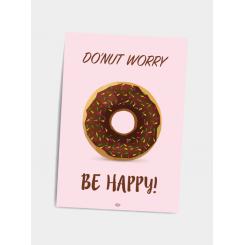 CITATPLAKAT - BE HAPPY A5